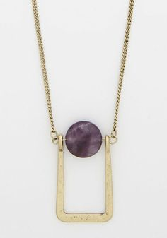 Poised Perfection Necklace. Even from afar, this pretty necklace piques our interest! #gold #modcloth