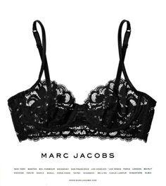 Black, lacy underthings