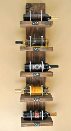 5th wedding anniversary gift {wood}   Wood Wine Rack by LittleShabbyShoppe on Etsy, $125.00