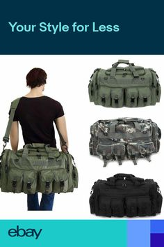 0f58ad99d78c Mens Duffel Military Molle Tactical Cargo Gear Shoulder Bag Large 30 Inch  NEW