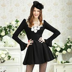 Buy 'Dabuwawa – Crochet-Collar A-Line Dress' with Free International Shipping at YesStyle.com. Browse and shop for thousands of Asian fashion items from China and more!