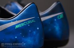 Nike Football Boots - Nike Mercurial Vapor IX CR7 FG - Firm Ground - Soccer Cleats - Galaxy - Dark Obsidian-Metallindoor Silver