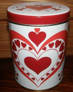 <3<3 Coca Cola, Soda, Tin, Planter Pots, Canning, Tableware, Vintage, Tin Metal, Coke