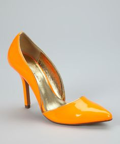 Take a look at this C Label Neon Orange Luxe Pump on zulily today!
