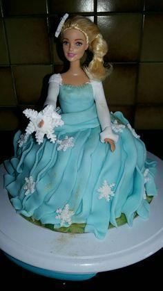 Reine des neiges génoise ganache chocolat