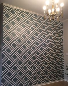 Painted wall with tape