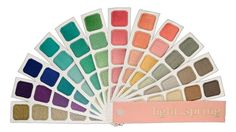 Light Spring - Color Harmony Swatch Book for Bright Spring by indigotones on Etsy