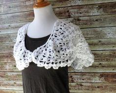 Lacy White Shawl- Crochet Bridal Wrap by AbigailsAttic112 on Etsy