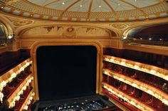 THE ROYAL OPERA HOUSE,  COVENT GARDEN, London, England as it is today ~Facing the stage from the Amphitheatre.
