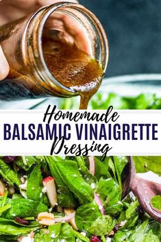 Sep 2019 - This Homemade Balsamic Vinaigrette Dressing is healthy and ready in only 5 minutes! The easy dressing recipe is perfect on salads or as a marinade! Balsamic Vinegar Dressing, Vinegar Salad Dressing, Vinaigrette Dressing, Olive Oil And Vinegar Dressing Recipe, Recipes With Balsamic Vinegar, Balsalmic Dressing, Homemade Balsamic Dressing, Balsamic Vinegarette, Balsamic Vinaigrette Recipe