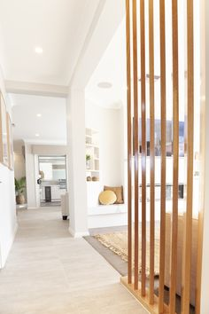 Kaplan Homes Entryway Inspiration Living Room Partition Design, Room Partition Designs, Interior Design Living Room, Living Room Colors, Home Living Room, Home Office Design, House Design, Design Salon, The Home Edit
