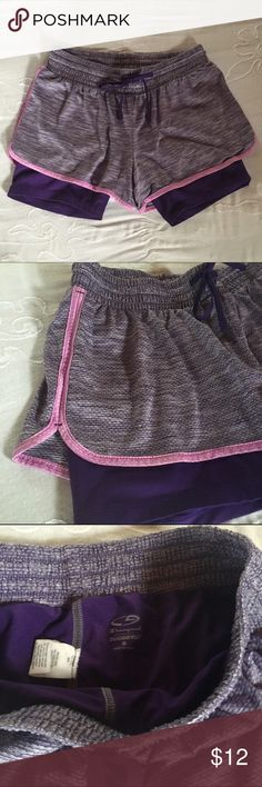 Purple running shorts Marbled purple running shorts. Worn once. Washed once. Size small. Exercise. Work out. NOT Nike. NOT reebok. NOT adidas. ✅Brand is Champion. Champion Shorts