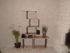 Meuble étagère / Pallet Shelves #Furniture, #Pallets, #Shelves