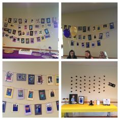 #Graduation party #pictures #display