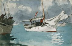 Fishing Boats, Key West, 1903  Winslow Homer (American, 1836–1910)  Watercolor and graphite on off-white wove paper