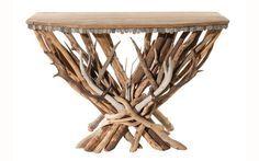 deer antler console table