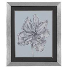 Bassett Mirror Silvery Blue Tulips IV Framed Art - 9900-183EEC