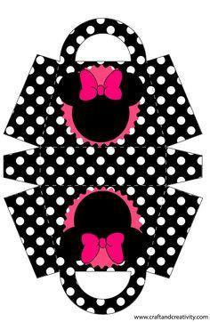 Casinha de Criança: Kit Festa Minnie Rosa Preto e Pink