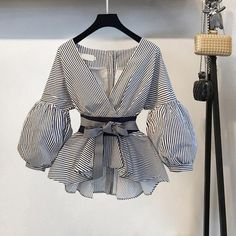 Suits For Women, Blouses For Women, Stylish Tops For Women, Cheap Blouses, African Fashion, Korean Fashion, Mode Outfits, Fashion Outfits, Girl Outfits