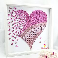 Moncraft design Paper Art Collage & custom made crafts of 3D paper artworks designs , 3D paper butterflies hearts origami arts & paper wall...