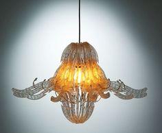 Plastic hanger chandelier  --  Dishfunctional Designs: Clothespins & Hangers Upcycled & Repurposed