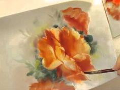 China Painting: Roses - YouTube