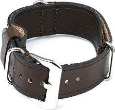 SALE 20% (19.99$) StrapsCo Dark Brown Nato Zulu Military Style Leather Watch Band size 18mm