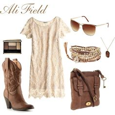 Lace & cowboy boots....I'm all in!!
