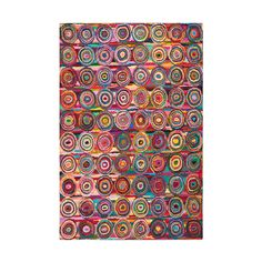 Add a gorgeous riot of color to your floor with this knockout rug full of concentric ripples. It's made from hand-looped cotton materials for a vibrant and unique rug to light up the whole room.  Find the Rainbow Ripples Rug, as seen in the A Very Bohemian Holiday Home Collection at http://dotandbo.com/collections/styleyourseason-a-very-bohemian-holiday-home?utm_source=pinterest&utm_medium=organic&db_sku=SAF0137-44