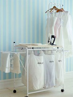 "I need a cute bin for my bedroom that can be used for pre-sorting laundry. My laundry ""closet"" doesn't have much room for sorting laundry!"