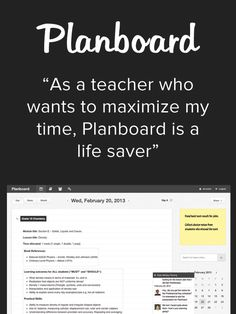 I have been looking for an online teacher planner. I believe Planboard is the Holy Grail.