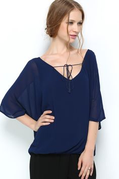 Relaxed Jamie Tunic in Royal on Emma Stine Limited