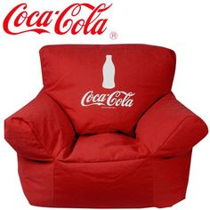 Coca Cola Bean Bag Chair - Might just NEED this for my kitchen someday... you know, when I've been on my feet all day and want to sit down and watch a movie... while I'm cooking... Still working on that part.