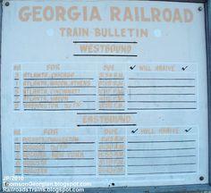 THOMSON GEORGIA TRAIN STATION SCHEDULE BULLETIN,