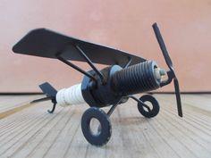 Spark Plug Airplane by GranniViksAttic on Etsy