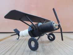 Spark Plug Airplane by GranniViksAttic on Etsy