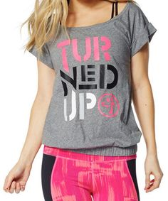 Loving this Thunderin Gray Turned Up Bubble Tee on #zulily! #zulilyfinds