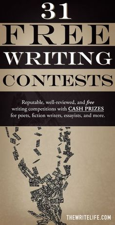 31 Free Writing Contests: Legitimate Competitions With Cash Prizes - Finance tips, saving money, budgeting planner Book Writing Tips, English Writing Skills, Writing Jobs, Writing Quotes, Fiction Writing, Writing Resources, Writing Prompts, Writing Ideas, Writing Art