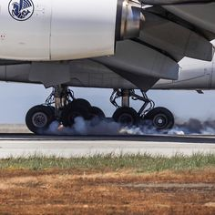 Weight on wheels... A LOT of weight! AF84, A380 - F-HPJA. #touchdown #airfrance #airbus #airbus380 #airbuslovers #planes #planeporn #planecrazy #planespotting #smoking #touchngoaviationphotography #landing #avgeek #avporn #aviation #megaplane #aeronews #airwaysmag #canon6d #sfo #instacool #igaviation #instaplane #instagramaviation #weight #forceful #wheelaction
