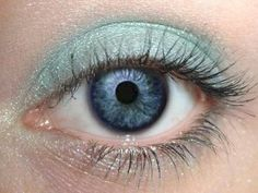 Lagoon Pure Mineral Eye Shadow-Orglamix. I'm kind of in love with this color.