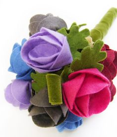 Spring felt craft flower