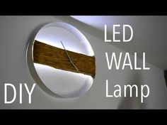 Led Wall Clock, Led Wall Lamp, Diy Clock, Led Diy, Wood Clocks, Wood Lamps, Recycled Decor, Diy Wood Bench, Bois Diy