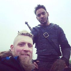 Jonathan Rhys Meyers #jonathanrhysmeyers #jrm on set of Vikings