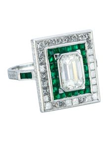 2.42ctw Emerald and Diamond Ring
