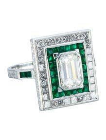 2.42ctw Emerald and Diamond Ring