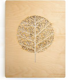 Wooden laser cut poster. Part of an ongoing series by Before Colour. Awesome!