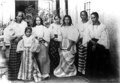 Women of a Tagalog family, Bacoor, Cavite, Philippines Miss Philippines, Philippines Culture, Manila Philippines, Philippines Outfit, Philippines Fashion, Filipino Wedding, Filipino Fashion, From Rags To Riches, Filipino Culture