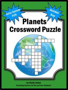 Planets Crossword Puzzle - Your students will enjoy solving this crossword puzzles. Planet facts are giving as clues. A word bank is also provided along with a teacher answer key.