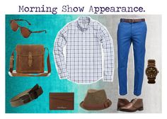 """""""Morning Show Appearance."""" by classic-erynn on Polyvore featuring nuLOOM, Brooks Brothers, Ray-Ban, Frye, Johnston & Murphy, LÜM-TEC, Salvatore Ferragamo, Ben Sherman, men's fashion and menswear"""