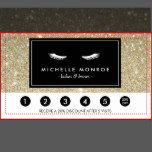 Shop Eyelashes with Gold Glitter Loyalty Punch Card created by Personalize it with photos & text or purchase as is! White Eyelashes, Gold Glitter Background, Glitter Images, Brow Bar, Cosmetic Companies, Makeup Artists, Custom Cards, Eyelash Extensions, Loyalty